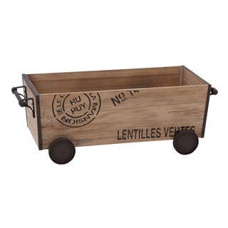 Unique Home Accents Wood Metal Cart