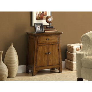 Distressed Dark Brown Veneer Transitional Bombay Chest