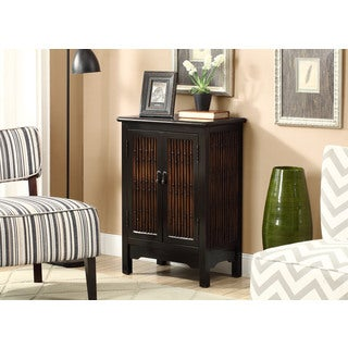 Distressed Black Transitional Bombay Chest