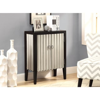 Contemporary 2-door Black/ Silver Bombay Chest