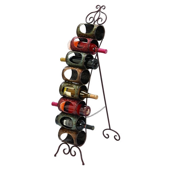 A Great Bar Decor Metal Wine Stand