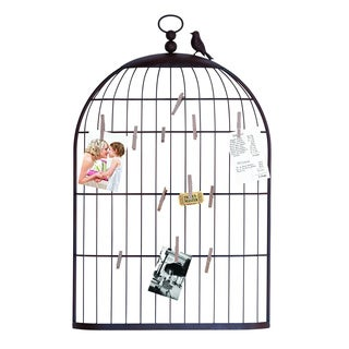 Unique Charming Bird Cage Photo Holder
