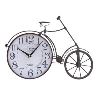 Metal Bicycle Clock