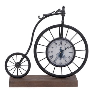 Metal and Wood Bike Clock
