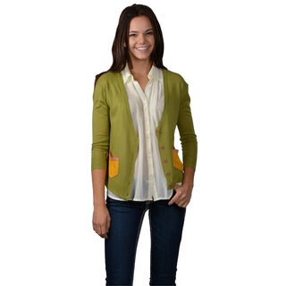 Journee Collection Juniors Color Block Button-down Cardigan