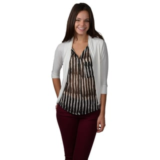 Journee Collection Womens Half Sleeve Open Front Cardigan