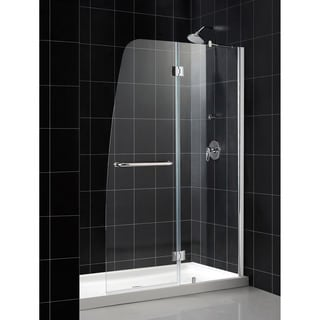 DreamLine Aqua Frameless Hinged Shower Door and 30x60-inch Shower Base