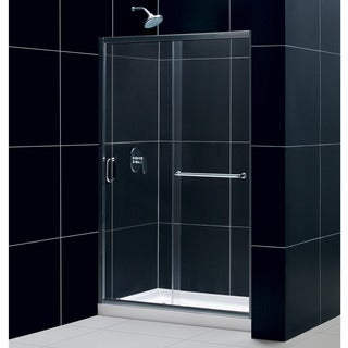 DreamLine Infinity-Z Sliding Shower Door and 36x48-inch Shower Base