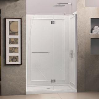 DreamLine Aqua Frameless Hinged Shower Door and 36x60-inch Shower Base