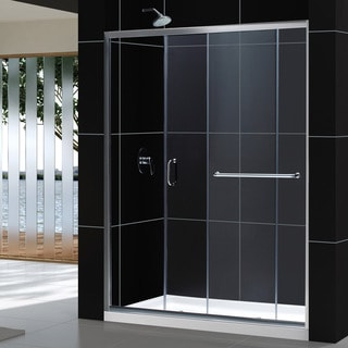 DreamLine Infinity-Z Sliding Shower Door and 32x60-inch Shower Base
