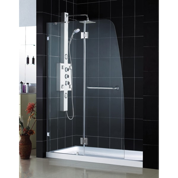 DreamLine AquaLux Hinged Shower Door and 32x60-inch Shower Base