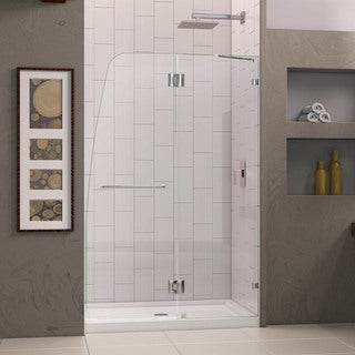 DreamLine AquaLux Hinged Shower Door and 36x48-inch Shower Base
