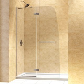 DreamLine Aqua Ultra Hinged Shower Door and 34x60-inch Shower Base