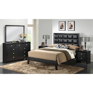 Carolina Black 5-Piece Modern Bedroom Set