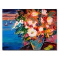 Shelia Golden 'By the Water' Canvas Art