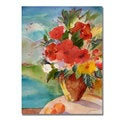 Shelia Golden 'Scenic Bouquet' Canvas Art
