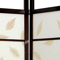 Wood and Rice Paper Botanic Shoji Screen (China)