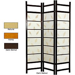Wood and Rice Paper Botanic Shoji Screen (China)