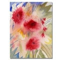 Shelia Golden 'Sunny Red Flowers' Canvas Art