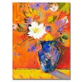 Shelia Golden 'Orange Wall II' Canvas Art