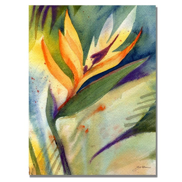 Shelia Golden 'Bird of Paradise' Canvas Art