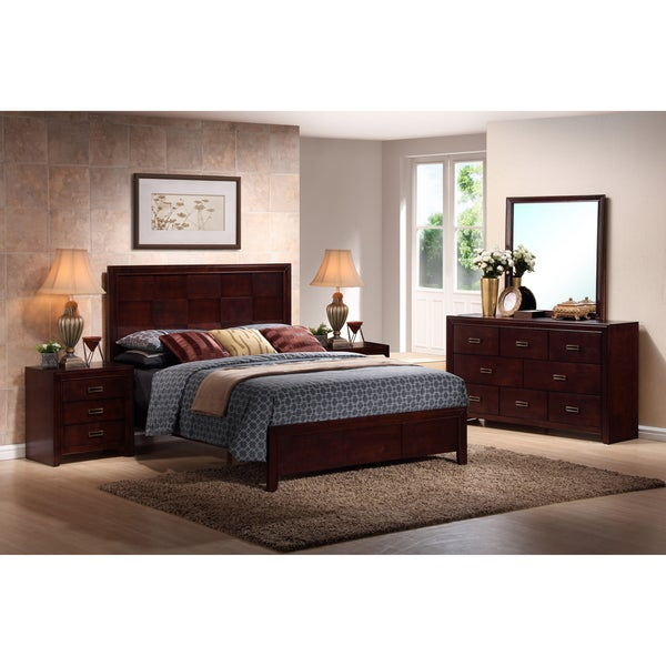 Trowbridge Cherry 5 Piece Modern Bedroom Set 15601816 Overstock