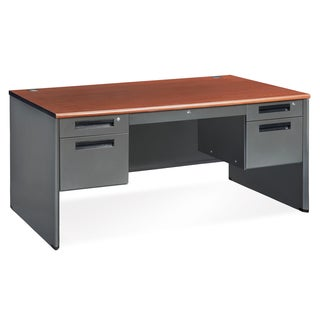 OFM Executive Series Doulbe Pedestal Panel End Desk