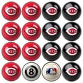 MLB Cincinnati Reds Billiards Pool Ball Set