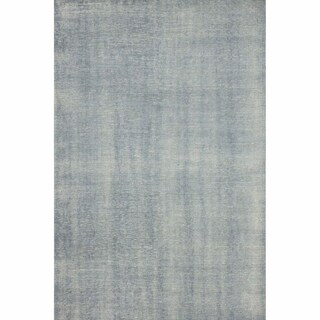 nuLOOM Hand-knotted Wool Overdyed Solid Slate Rug (4' x 6')