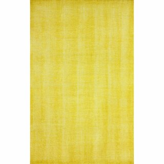 nuLOOM Hand-knotted Wool Overdyed Solid Gold Rug (4' x 6')