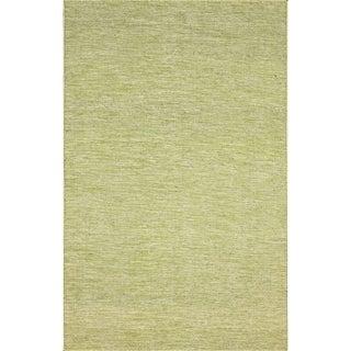 nuLOOM Flatweave Wool Contempoary Tweeded Green Rug (4' x 6')