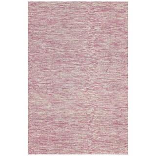 nuLOOM Flatweave Wool Contempoary Tweeded Pink Rug (4' x 6')