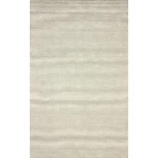 nuLOOM Handmade Solid Textured Ivory Rug (4' x 6')