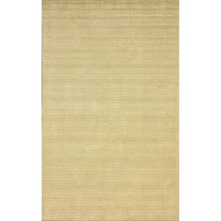 nuLOOM Handmade Solid Textured Champagne Rug (4' x 6')