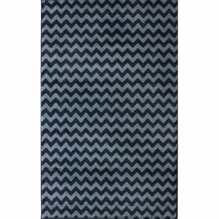 nuLOOM Alexa Chevron Vibe Zebra Navy Rug (4' x 5'7)