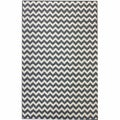 nuLOOM Alexa Chevron Vibe Zebra Light Blue Rug (4' x 5'7)