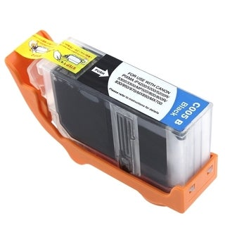 BasAcc Black Ink Cartridge Pack for Canon 5 PGI-5BK (Pack of 5)