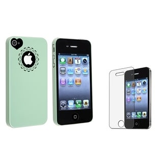 BasAcc Mint Green Snap-on Case/ LCD Protector for Apple iPhone 4/ 4S