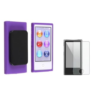 INSTEN Belt Clip iPod Case Cover/ LCD Protector for Apple iPod Nano 7