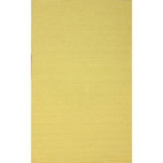 nuLOOM Handmade Indoor/ Outdoor Braided Yellow Rug (8' x 10')