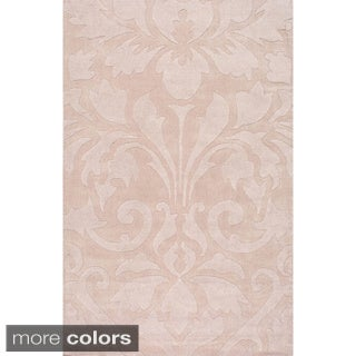 nuLOOM Handmade Neutrals and Textures Damask Wool Rug (8' x 10')