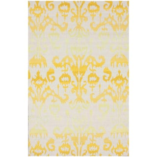 nuLOOM Handmade Modern Yellow Ikat Rug (8'3 x 11')