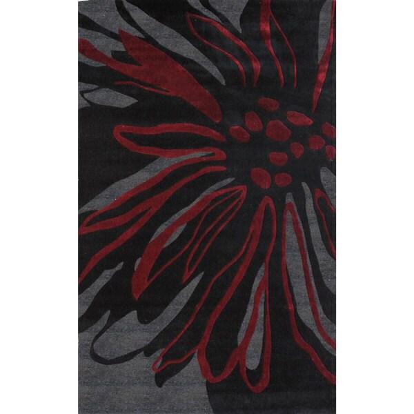 nuLOOM Handmade Black Norwegian Sky Fireworks Splash Rug (8'3 x 11')