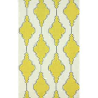 nuLOOM Handmade Abstract Swirls Trellis Wool Rug (8'6 x 11'6)