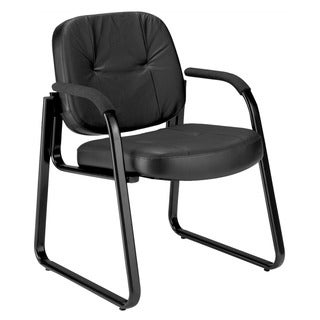 OFM Black Leather Guest/Reception Chair 503-L