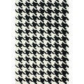 nuLOOM Handmade Houndstooth Black Wool Rug (5' x 8')