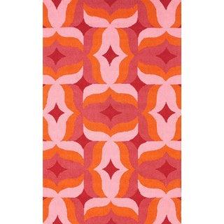 nuLOOM Handmade Modern Abstract Multi Wool Rug (8'6 x 11'6)