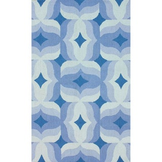 nuLOOM Handmade Modern Abstract Blue Wool Rug (8'6 x 11'6)