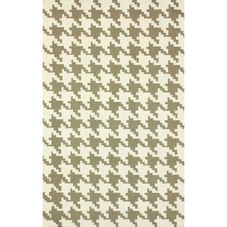 nuLOOM Handmade Houndstooth Light Brown Wool Rug (8'6 x 11'6)