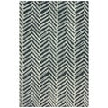 nuLOOM Handmade Chevron Denim Wool Rug (8'3 x 11')